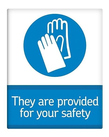 Son para su Seguridad Guantes 20,3 x 25,4 cm Metal Cartel ...