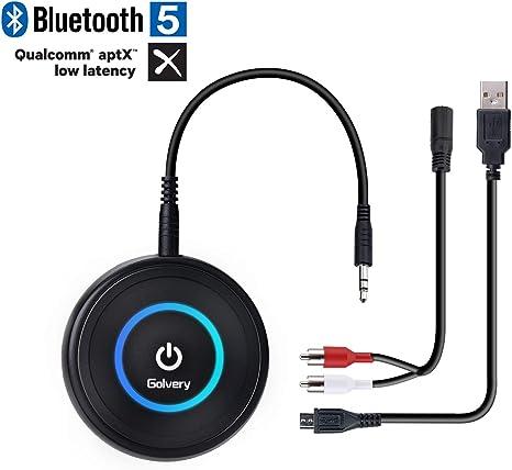 Adattatore trasmettitore ricevitore 4.2 Bluetooth HIFI Adattatore audio adattatore audio wireless 2 in 1 da 3,5 mm Bassa latenza per cuffie Altoparlanti MP3//MP4 iPhone TV//Sistema Home stereo