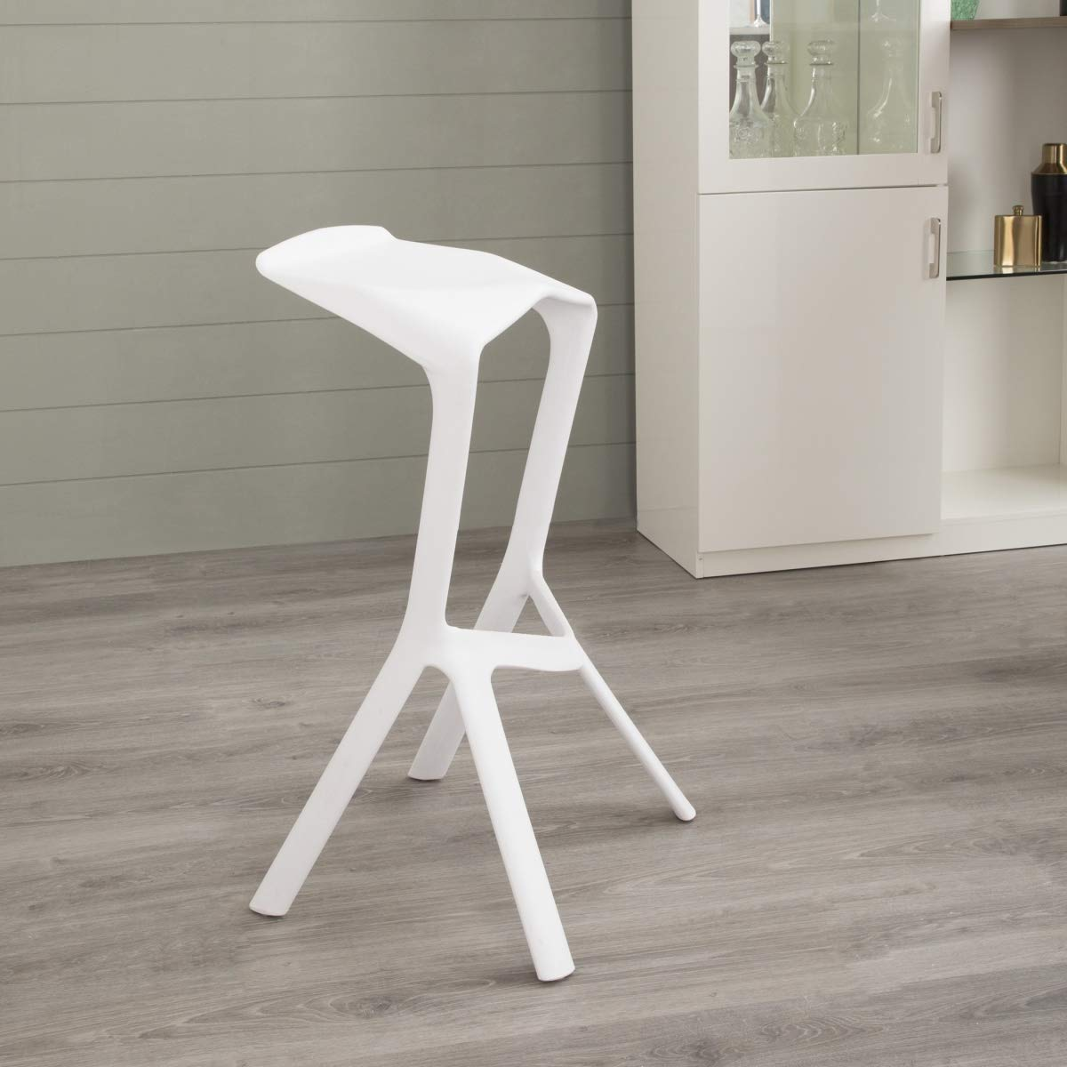 Home Centre Perry Bar Chair - White: Amazon.in: Home & Kitchen