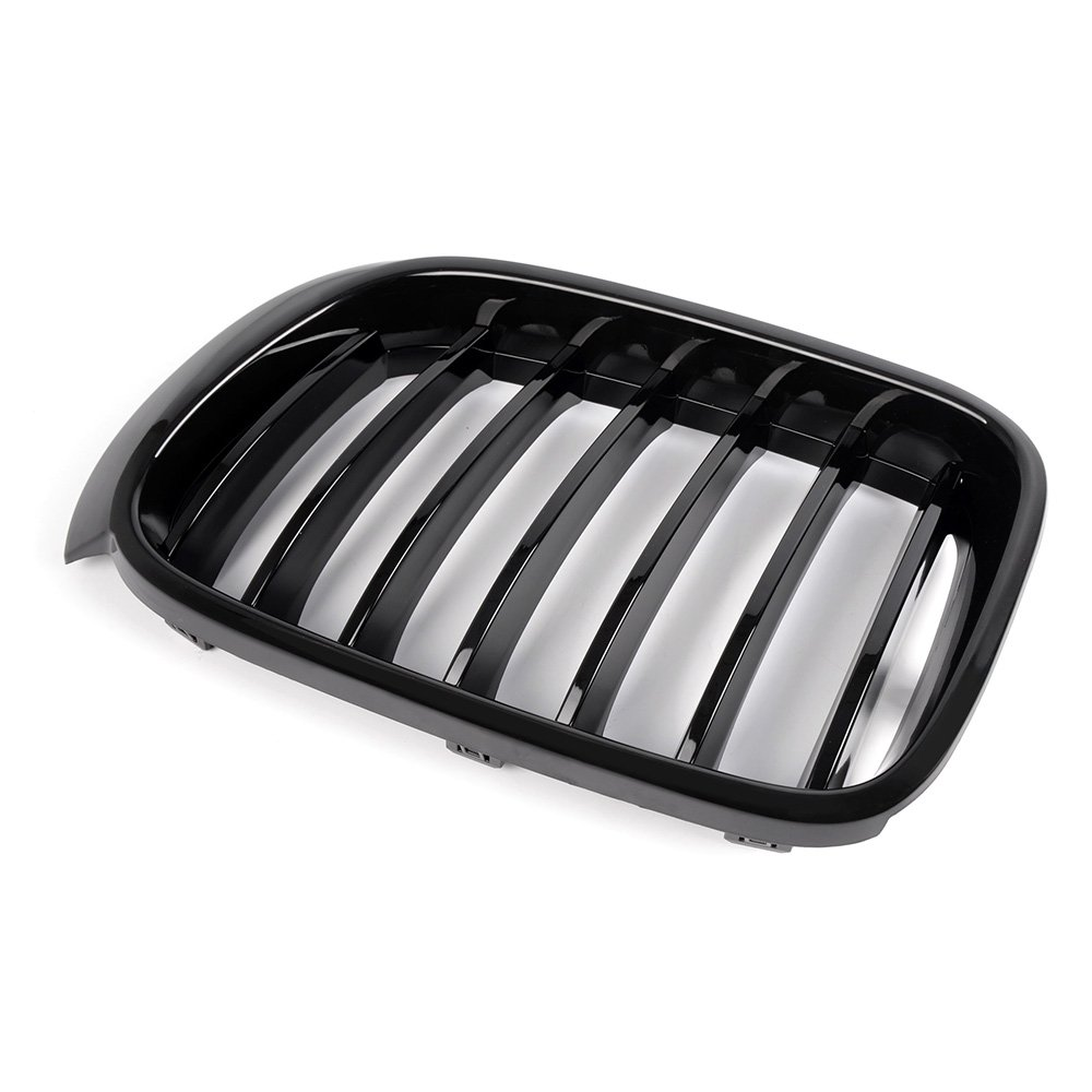Left /& Right Gloss Black Kidney Front Grille For BMW X3 F25 15-17 X4 F26 14-16