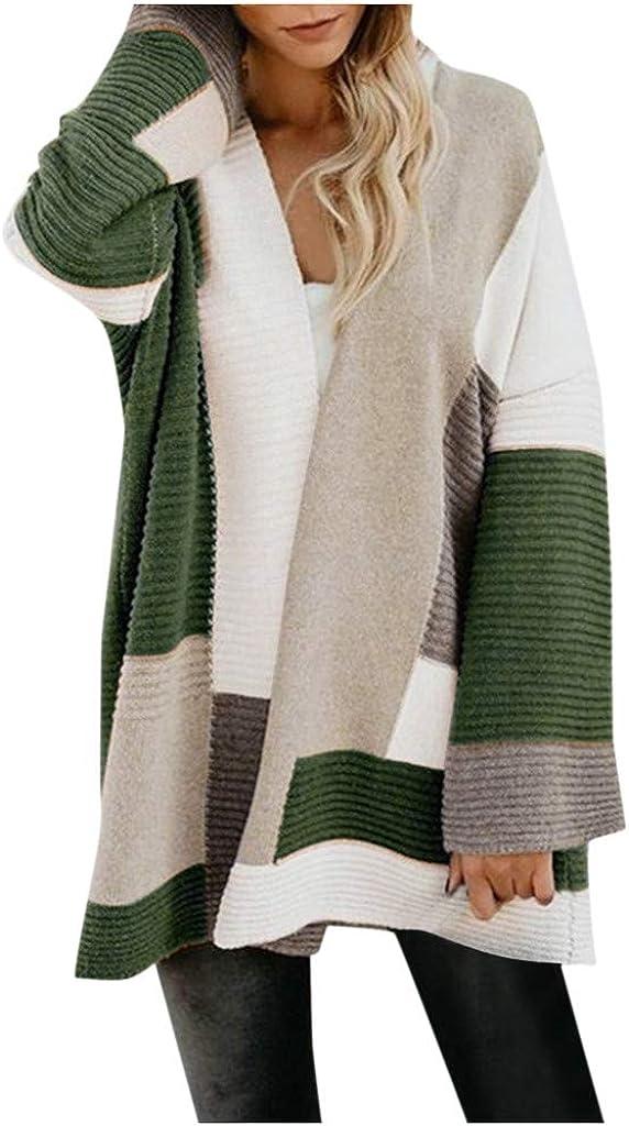 ODRD Damen Mantel Revers Faux Für Lose Langarm Outwear Cardigan Windbreaker Winterjacke Mode Lange Coat [S-XL]