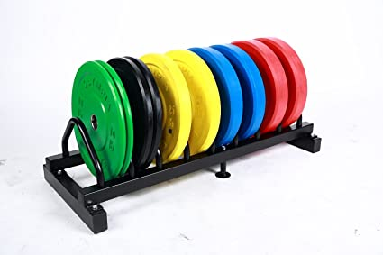 Solid Rubber Bumper Plates Set w/ Rack- Color 5 Pairs Total 260lb  sc 1 st  Amazon.com & Amazon.com : Solid Rubber Bumper Plates Set w/ Rack- Color 5 Pairs ...