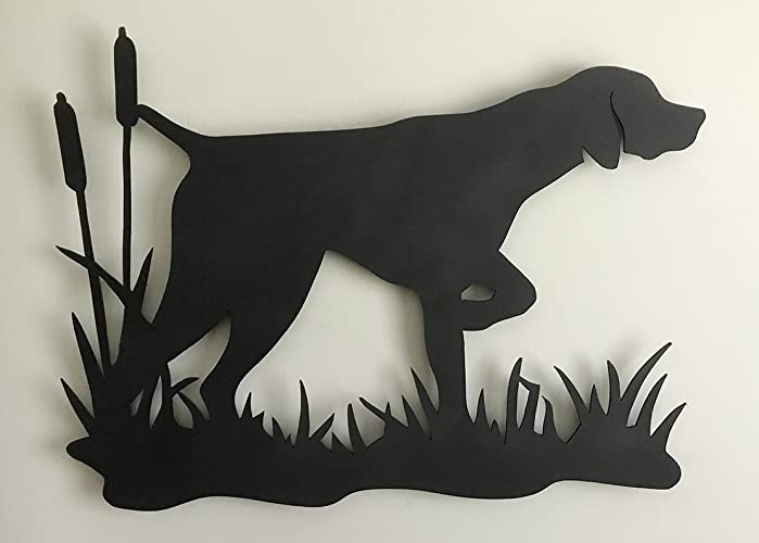Amazon Com German Shorthaired Pointer With Cattails Silhouette Made