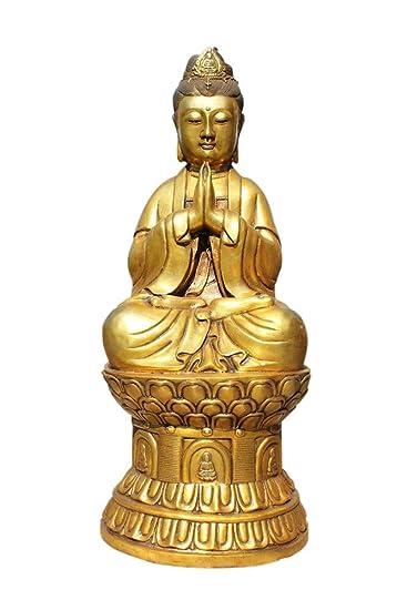 Asien Lifestyle amazon com asien lifestyle sitting bronze guan yin buddah statue