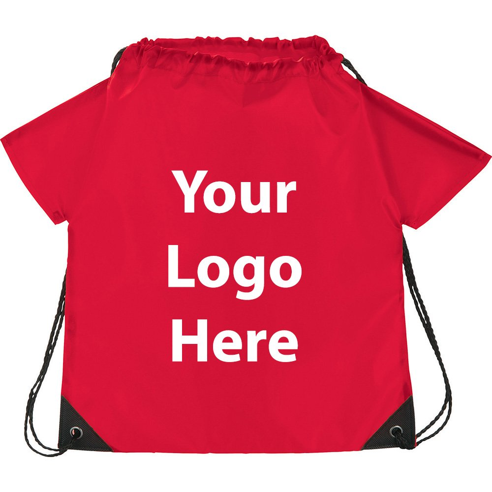 T Shirt Drawstring Sportspack - 200 Quantity - $2.30 Each - PROMOTIONAL PRODUCT / BULK / BRANDED with YOUR LOGO / CUSTOMIZED
