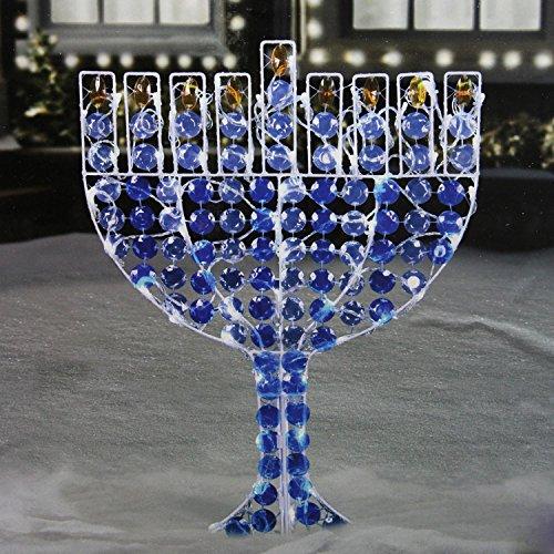 northlight led lighted menorah hanukkah yard art decoration with cool white lights 24 - Hanukkah Decorations