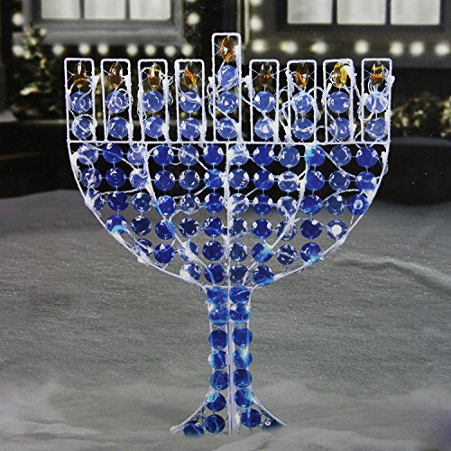 Northlight LED Lighted Menorah Hanukkah Yard Art Decoration with Cool White Lights, 24'' by Northlight