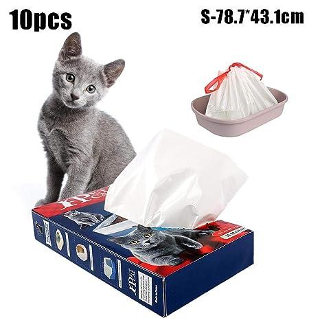 LIJUMN Bolsas de arena para gatos, bolsa de basura para ...