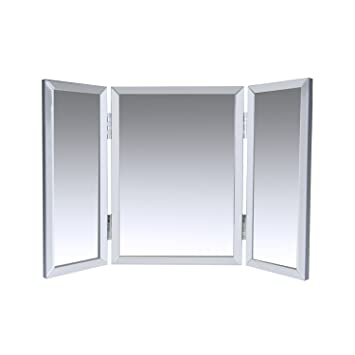 Houseables Trifold Vanity Mirror 3 Way 31 X 1 X 21