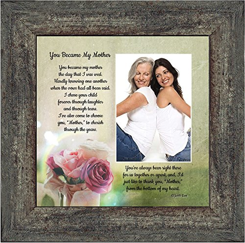 Personally Yours You Became My Mother, Gifts for Mother in Law, in Law Frames, 10x10 6339BW