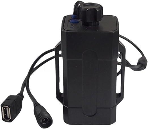 SINOMALL - Caja de batería 18650 multifunción impermeable para luz de bicicleta, lámpara de bicicleta, caja de energía para teléfonos con DC USB Dual Puertos: Amazon.es: Jardín