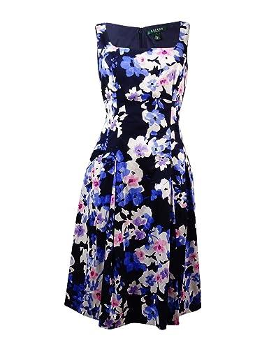 Lauren Ralph Lauren Womens Printed Sleeveless Casual Dress