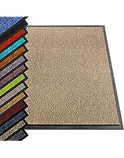 etm® Schoonloopmat - Note 1,6: winnaar prijs-prestatieverhouding - deurmat in vele maten - deurmat voetveger voor huisdeur binnen en buiten (oker-zwart, 90x150 cm)