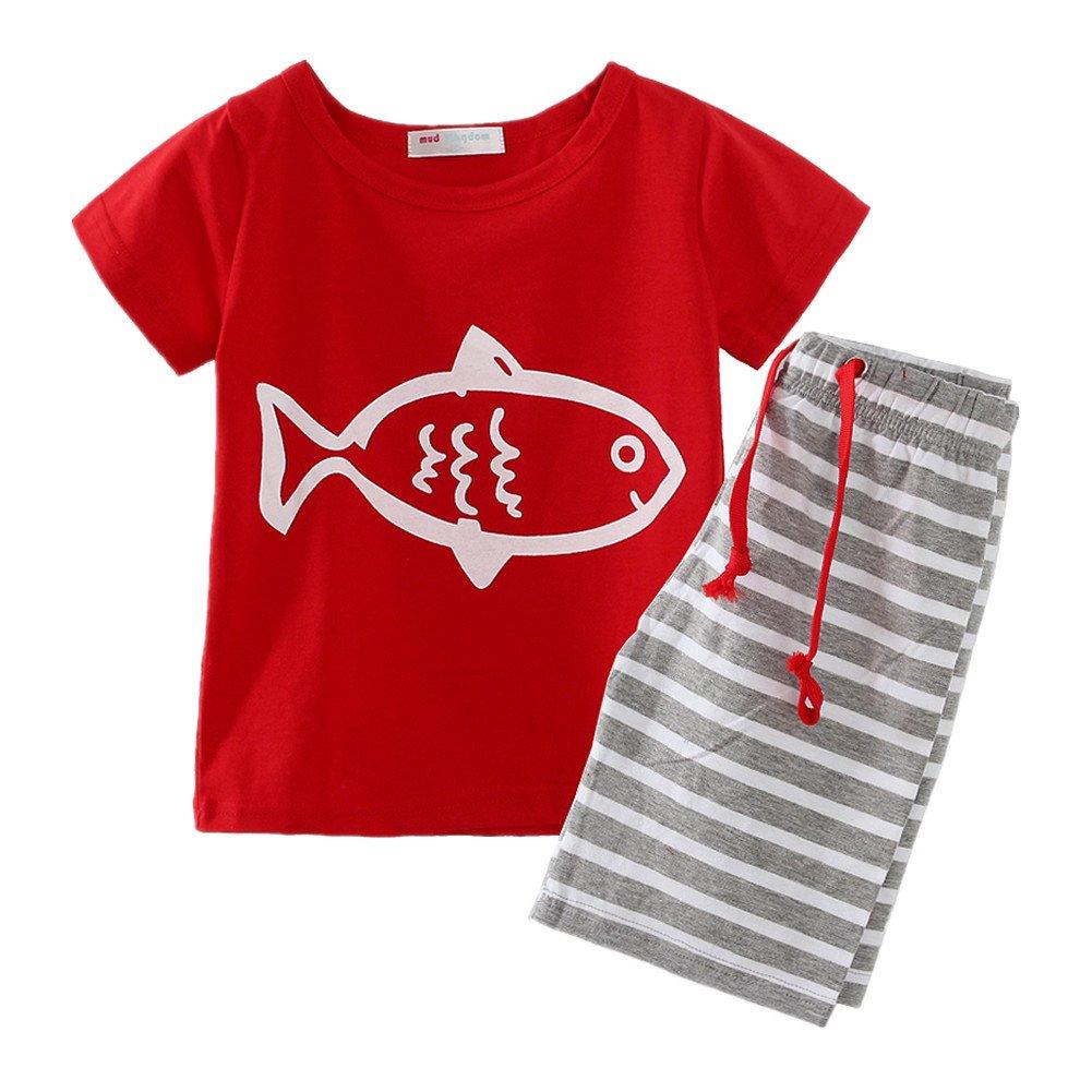 Little Spring Little Boys' Clothing Short Sets Striped LZ-T0435