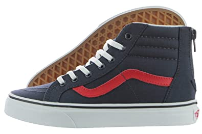 d4cb7b8271 Amazon.com | Vans SK8-Hi Zip Varsity Boys Shoes Size 2.5 Blue | Sneakers