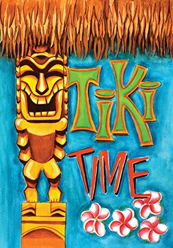 Toland Home Garden 102617 Tiki Time 28 x 40 Inch Decorative, House Flag (28