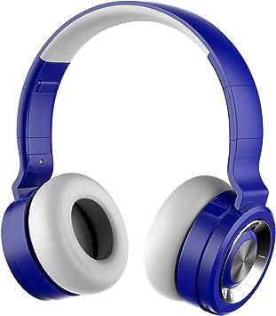 Auriculares Inalámbricos con Micrófono,Funwaretech G4 Cascos Bluetooth Diadema,Auriculares Inalámbricos de Diadema Cerrados,20hrs Reproducción de Música,Hi-Fi Sonido Estéreo para TV,PC,Móviles(Azul): Amazon.es: Electrónica