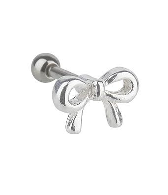 Six schmuck piercing  SIX Helix-Piercing aus 925er Silber mit niedlicher Schleife (293 ...