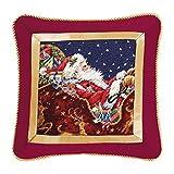 16'' Needlepoint Pillow - Santa with Sleigh