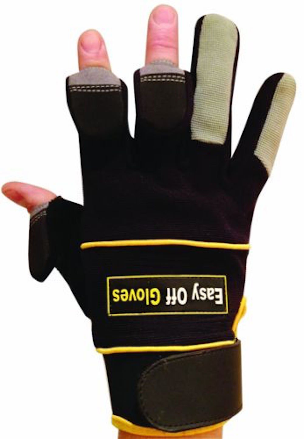 Specialist (Fold-Back Finger Tips) Velcro Gloves by Easy Off Gloves - As seen in The Daily Mirror, The Sun & as worn by Iwan Thomas MBE - Ideal for Shooting, Fishing, Gardening, Photography, DIY & Work Wear Easy Off Gloves Ltd