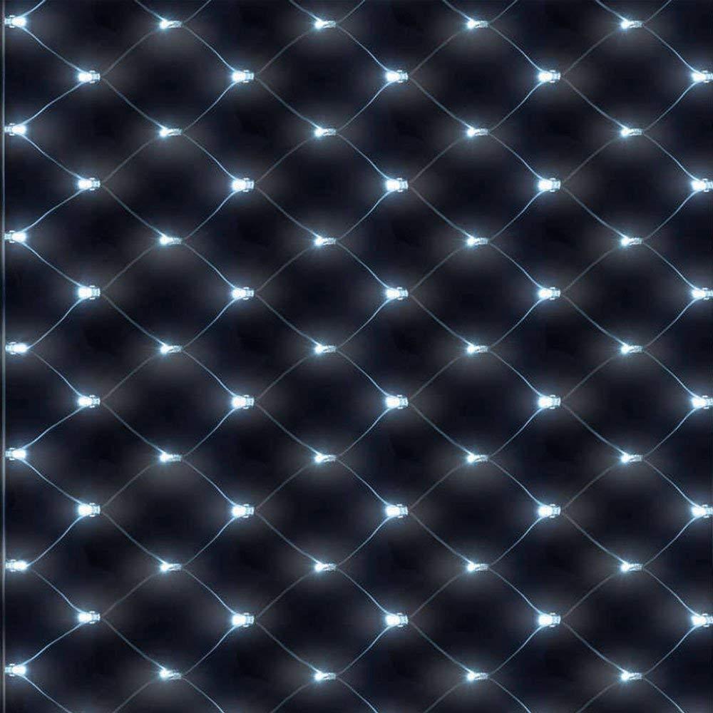 Netz Lichter 672LEDs Lichternetz Lichtervorhang(6m*4m) Lichterkette Warmweiß Deko Leuchte Innen und Außen Weihnachten Hochzeit mit Stecker, Warmwhite J.SPG