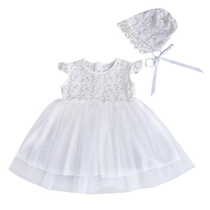 Happy Cherry - Vestido Princesa de Tutu para Bebés Niñas Disfraces para Fiesta Boda Ceremonia con