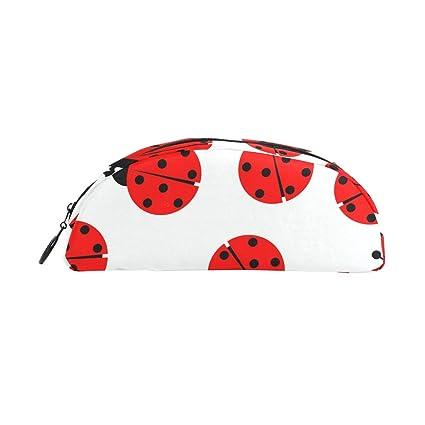 BENNIGIRY Ladybug - Estuche para lápices semicircular, gran ...