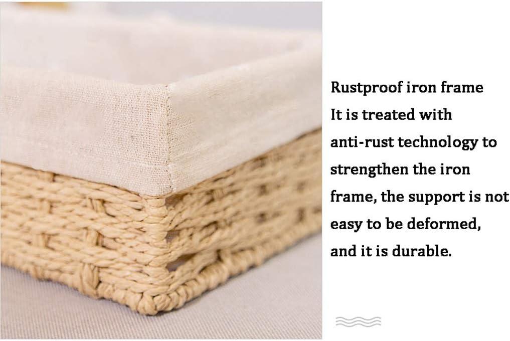 Scatola da 2 Pezzi Realizzata a Mano Tessuta con Rivestimento Interno for Soggiorno Camera da Letto Cucina Bagno Liuyu. (Color : Gray) Beige