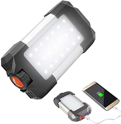 Outdoor Rechargeable Camping LED Lantern Tent Light Work Torch Lamp Power Bank