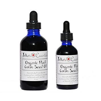 100% Pure Organic Black Cumin Seed Oil (Nigella Sativa) Food Grade  Cold-Pressed for Natural Hair