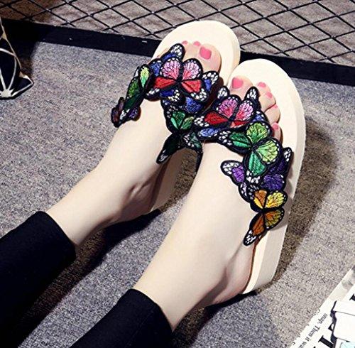 à Bascules Plage de à de Main épaisses Chaussures La Pantoufles Été Chaussures Antidérapants Plage Semelles Pantoufles Fraîches CHENGXIAOXUAN Beige pour Chaussures de Chaussures Femmes Mode Pieds Romaines Zwxqpz1U