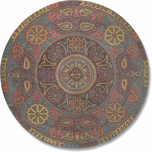 Wool Esprit - Esprit Home Oriental Mandala Wool Area Rug 3'3'' Round