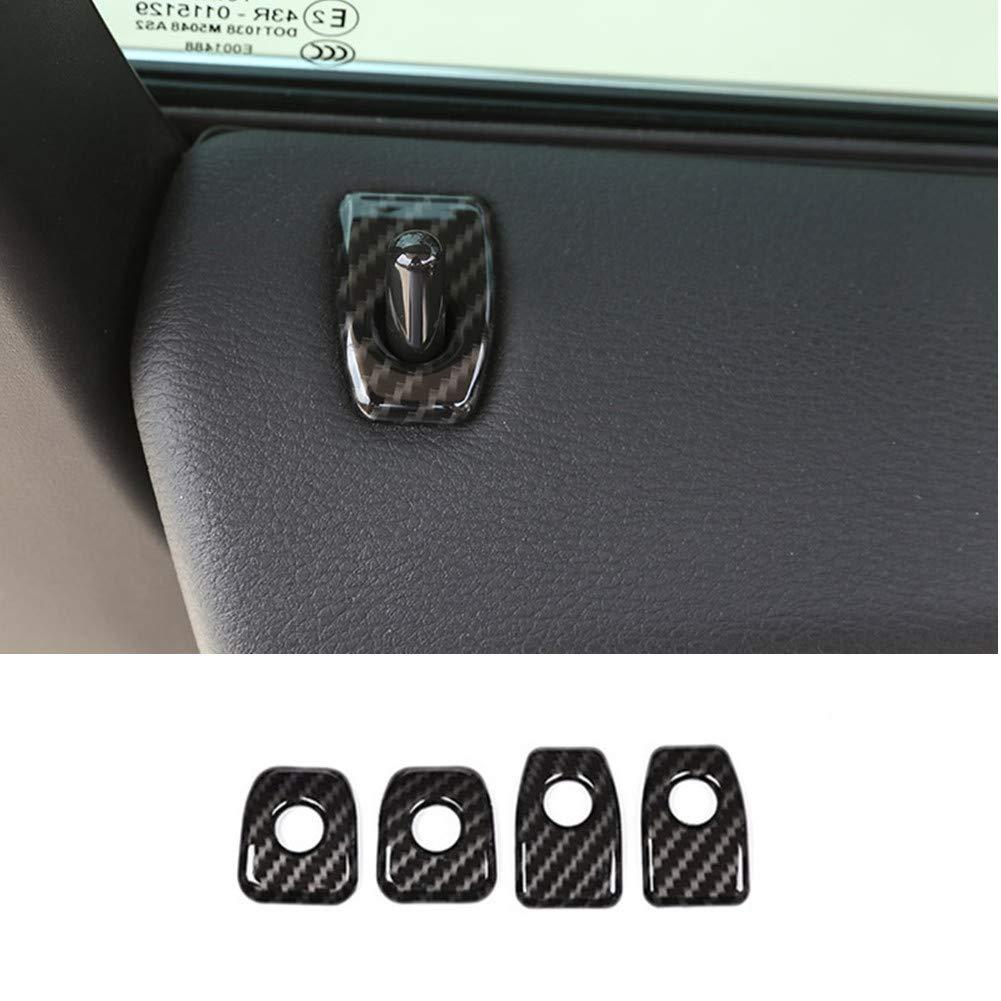 Carbon ABS Chrome Int/érieur D/écoration int/érieure de voiture Verrou de porte Accessoires Cadre Coque Trim Stickers pour X5/F15/2014 2018 2018 X6/F16/2015