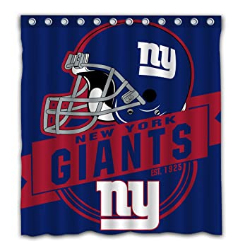 Felikey Custom New York Giants Waterproof Shower Curtain Colorful Bathroom Decor Size 66x72 Inches