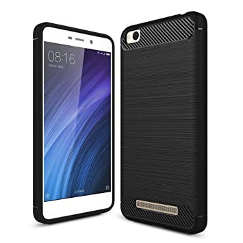 German Tech Elite Carbon - Carcasa TPU para Xiaomi Redmi 4A, Color Negro