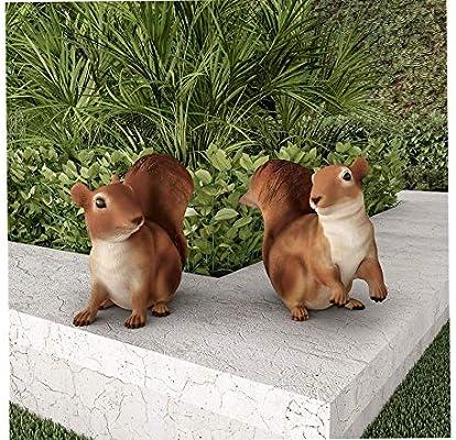 Estatuas de ardilla para jardín al aire libre, figuras de animales de resina para decoración de