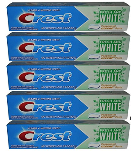 Crest Fresh and White Toothpaste 2.9oz Formerly Gleem - 6 Pa