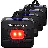 Univerayo Coyote Deterrent Solar Predator Control Lights Raccoon Deterrent Fox Skunk Deer Repellent 4 Pack - Upgraded Version