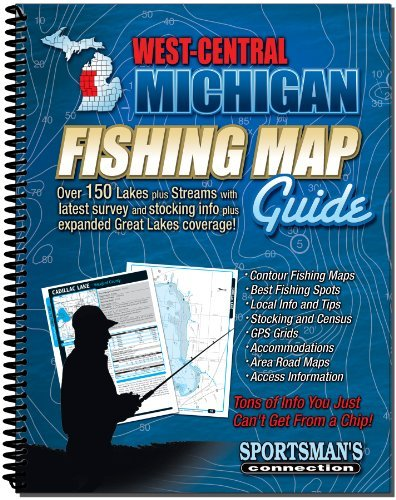 West Central Michigan Fishing Map Guide ()