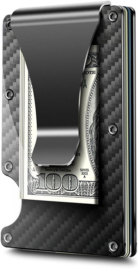 Metal Wallet Money Clip RFID Blocking Minimalist Credit Card Holder Magic