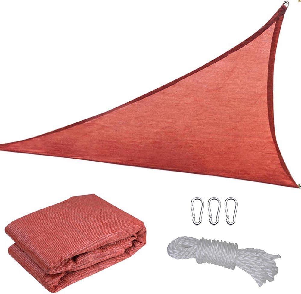 Yescom 16.5 Triangle Sun Shade Sail Patio Deck Beach Garden Yard Outdoor Canopy Cover 95 UV Blocking