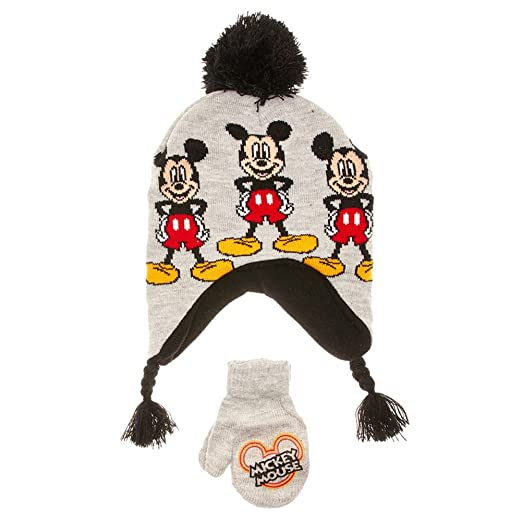 a0c2cff0f Amazon.com: Disney Mickey Mouse Toddler Little Boys Winter Hat ...