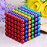216+6 PCS 5MM Magnetic Ball Cube Magnetic Balls Under Reduced Pressure Creative Toys, Sculpture Toy for Intelligence Development and Stress Relief, DIY Desk Decoration (B2 Colours)
