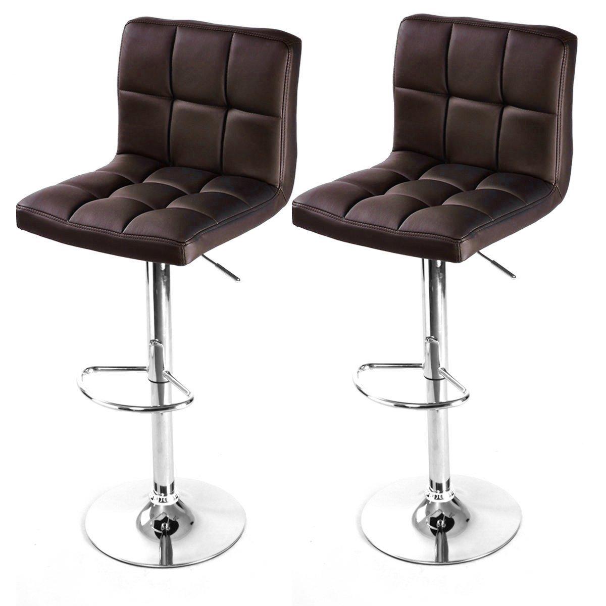 Pics photos bar stools for sale - Amazon Com 2 Modern Adjustable Leather Swivel Pub Style Bar Stools Barstools Brown Kitchen Dining