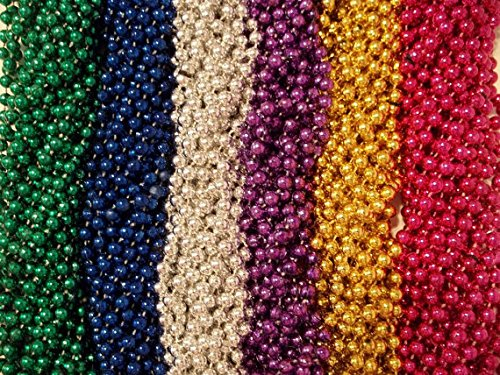 Mardi Gras Beads, Party Necklaces, 64 Ct. ()