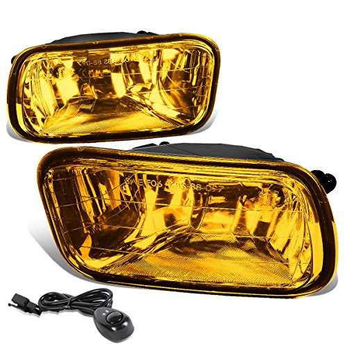 For Dodge Ram 1500-3500 Pair of Amber Lens Polycarbonate Bumper Driving Fog lights Lamps + (Polycarbonate Reflector Lens)
