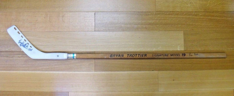 Bryan Trottier Autographed Signed Hockey Stick JSA Authentic