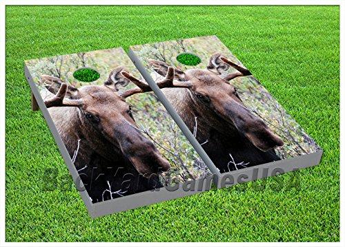 VINYL WRAPS Cornhole Boards DECALS Moose Camo Nature Bag Toss Game Stickers 321