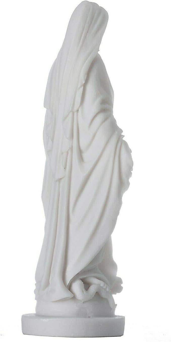 BeautifulGreekStatues Virgin Mary Mother of Jesus Statue Alabaster 6.8