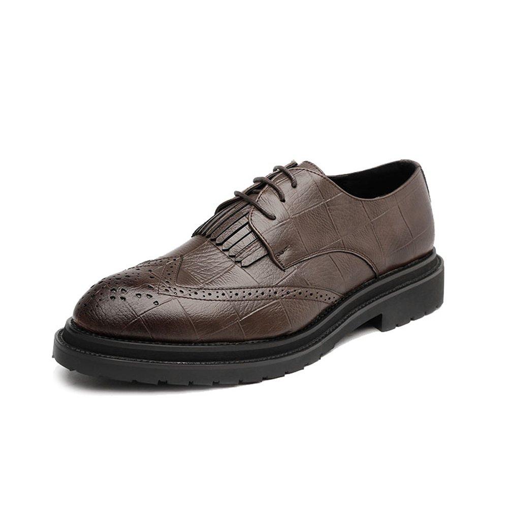 IWGR Herren PU Leder Schuhe Klassische Lace Up Quaste Quaste Quaste Dekoration Atmungsaktiv Formal Business Gefüttert Oxfords Atmungsaktiv c33266